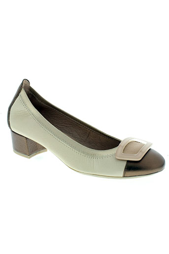 hispanitas chaussures femme de couleur beige