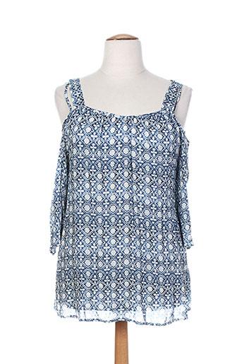 aprico chemises femme de couleur bleu