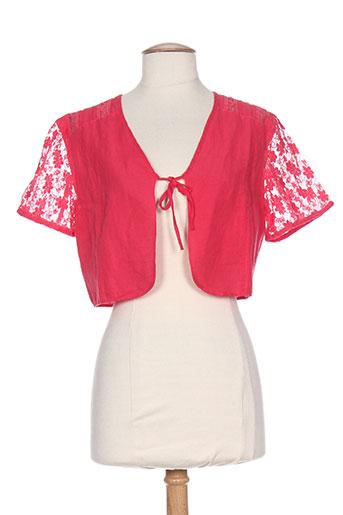 jac jac vestes femme de couleur rose