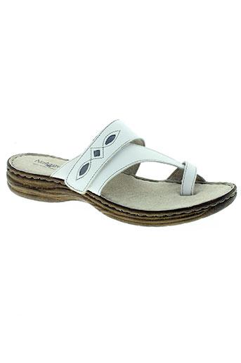 natureva chaussures femme de couleur blanc