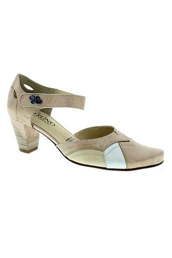 geo-reino chaussures femme de couleur beige