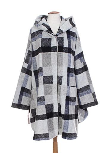 masai manteaux femme de couleur gris