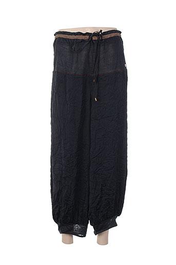 cinq six mouches pantalons femme de couleur bleu
