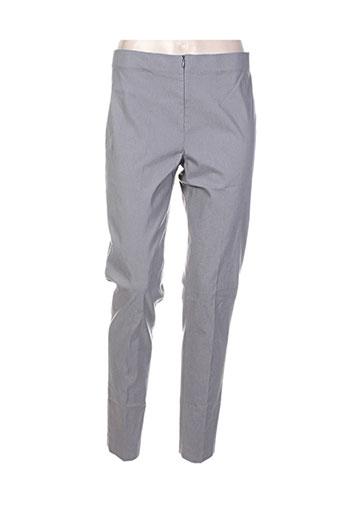 lauren vidal pantalons femme de couleur gris