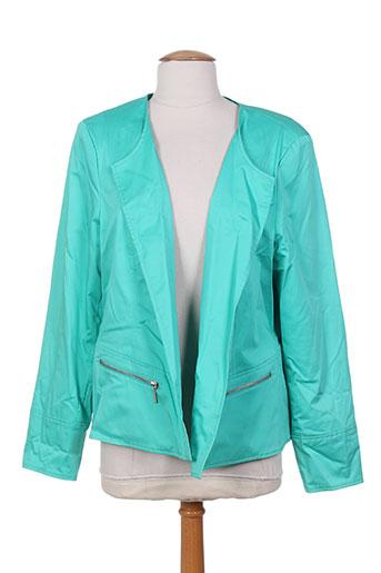 Veste casual vert FLEUR DE REVE pour femme