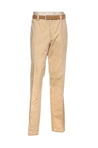 meyer pantalons homme de couleur jaune
