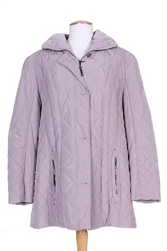 lebek manteaux femme de couleur violet