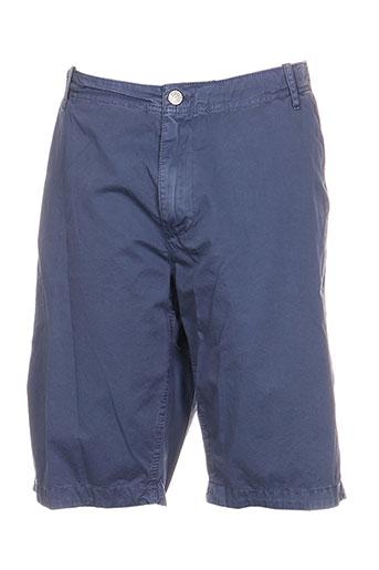 r.a.w. recycled art world shorts / bermudas homme de couleur bleu