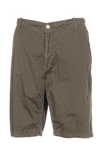 r.a.w. recycled art world shorts / bermudas homme de couleur vert