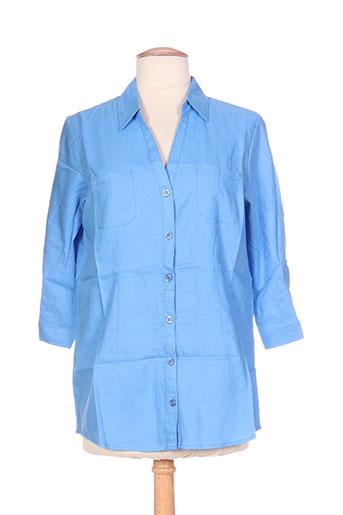 Chemisier manches longues bleu ESPRIT DE LA MER pour femme