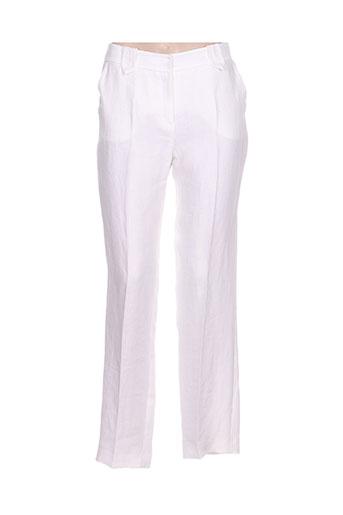 gerard darel pantalons femme de couleur blanc