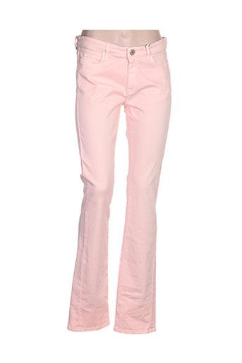 maxmara pantalons femme de couleur rose