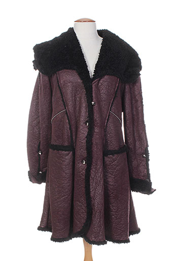 o.k.s manteaux femme de couleur rouge