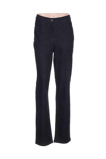 felino jeans femme de couleur bleu