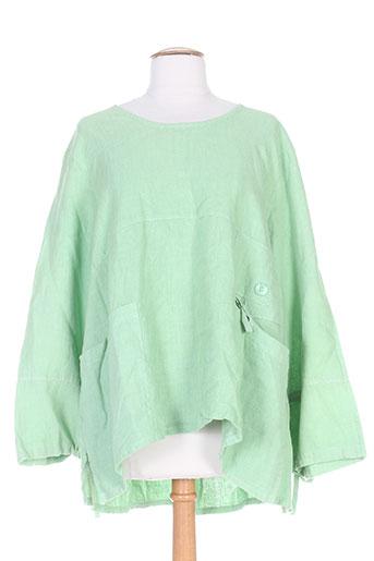 arthurio lino tuniques femme de couleur vert