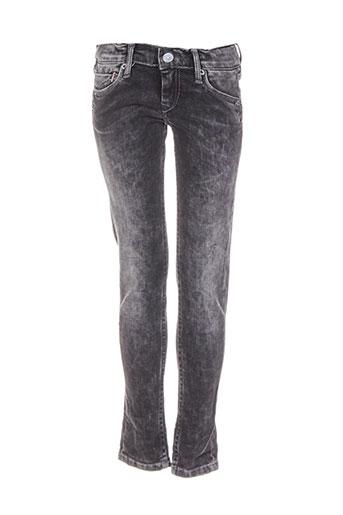 pepe jeans pantalons garçon de couleur noir