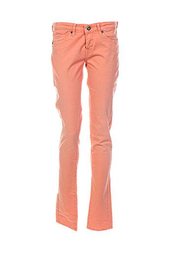 pepe jeans pantalons fille de couleur orange