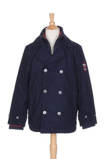 pepe jeans manteaux garçon de couleur bleu
