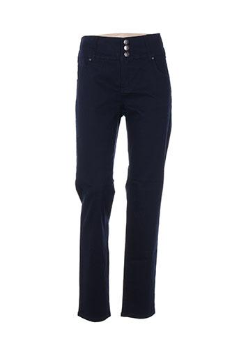 adia pantalons femme de couleur bleu