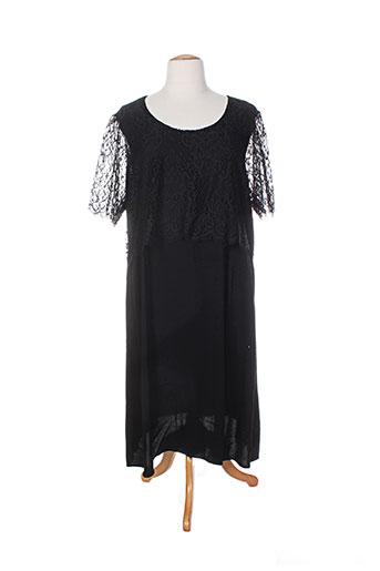 Robe mi-longue noir ADIA pour femme