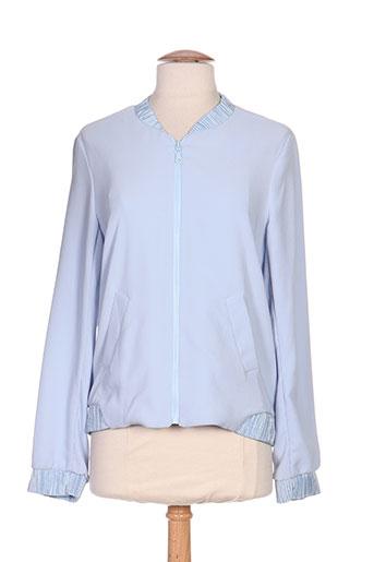 purple's vestes femme de couleur bleu