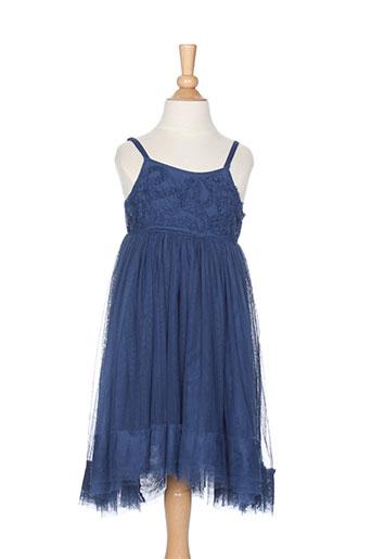 eliane et lena robes fille de couleur bleu