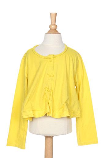 eliane et lena gilets fille de couleur jaune