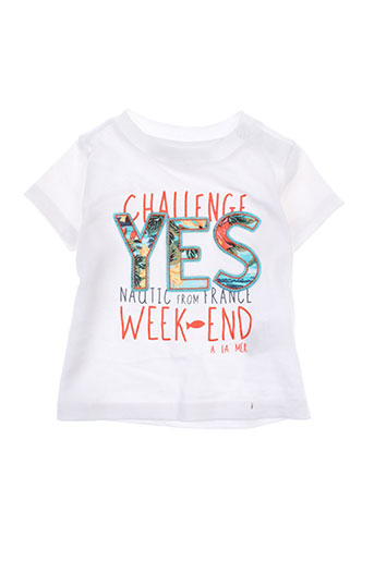 week end a la mer t-shirts garçon de couleur blanc