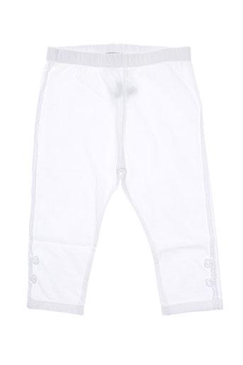 taille 0 pantalons fille de couleur blanc