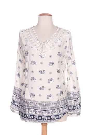 dayana chemises femme de couleur blanc