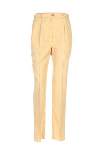 karting pantalons femme de couleur jaune
