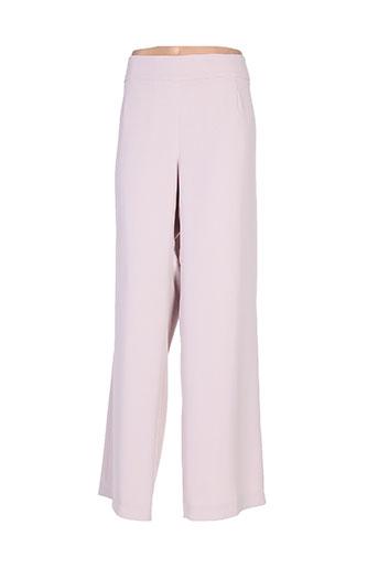 villa bleue pantalons femme de couleur rose