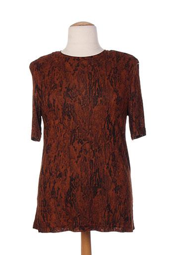 markwald t-shirts femme de couleur marron