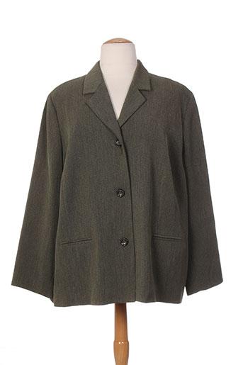 francoise vestes femme de couleur vert