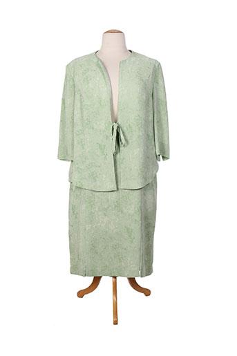coutureine ensemble femme de couleur vert