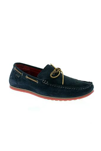 christophe auguin chaussures homme de couleur bleu