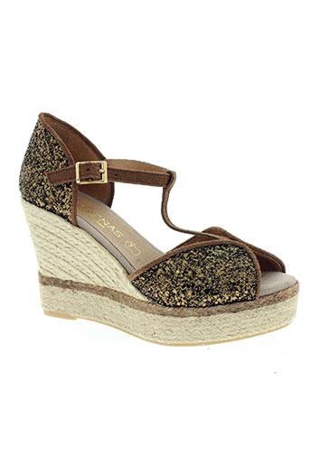 medrenas chaussures femme de couleur marron