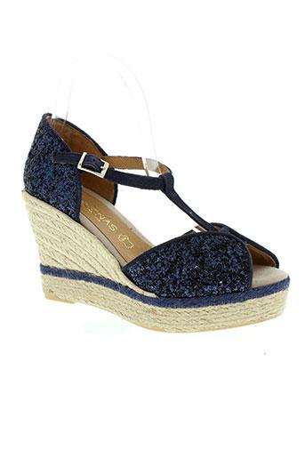 medrenas chaussures femme de couleur bleu