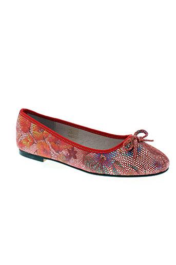 on zen chaussures femme de couleur rouge