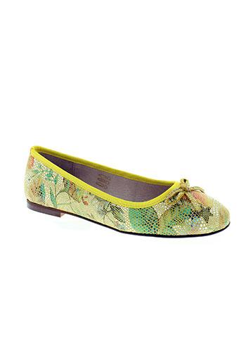on zen chaussures femme de couleur jaune
