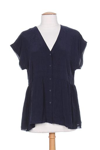 american vintage chemises femme de couleur bleu