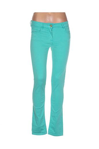 essentiel jeans femme de couleur vert