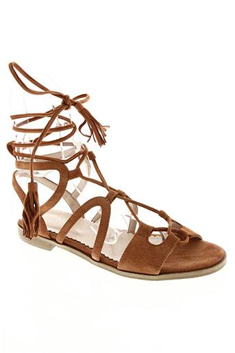 i blues chaussures femme de couleur marron