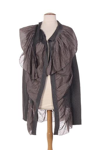 indies vestes femme de couleur gris