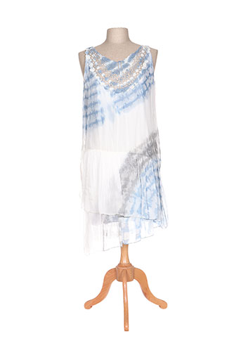 tanaga robes femme de couleur bleu