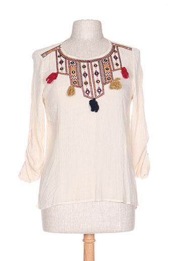 exquiss's chemises femme de couleur beige