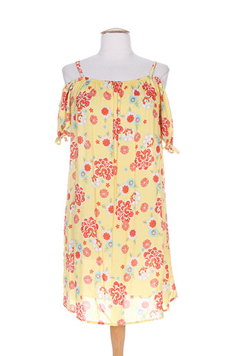 jad robes femme de couleur jaune