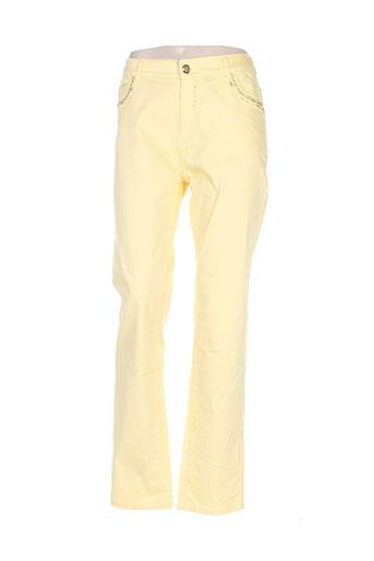 farfalla pantalons femme de couleur jaune