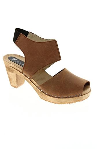 l'atelier scandinave chaussures femme de couleur marron