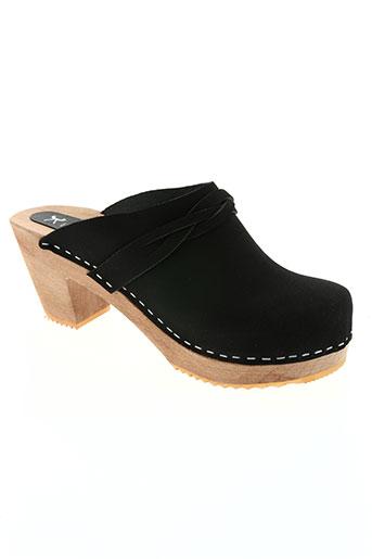 l'atelier scandinave chaussures femme de couleur noir